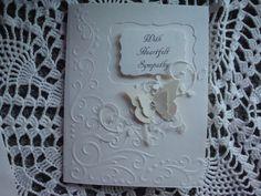 Sympathy Card With Sympathy Condolences light by CardsbyEileen
