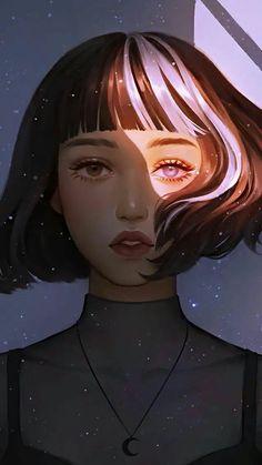Anime Girl Drawings, Anime Art Girl, Cute Drawings, Digital Art Anime, Digital Art Girl, Aesthetic Art, Aesthetic Anime, Beautiful Fantasy Art, Cartoon Art Styles
