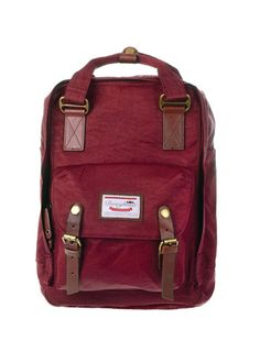 Wine colored Doughnut Macaroon backpack. I ll drink to that. Laptop Backpack  15810ebc00513
