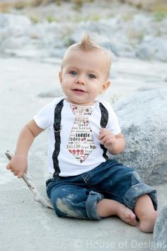 Lil' Bit Country Baby Tie and Suspenders Onesie. via Etsy. Baby Boy Outfits, Kids Outfits, Baby Tie, Baby Sewing, Beautiful Children, Little People, Baby Fever, Future Baby, Baby Pictures