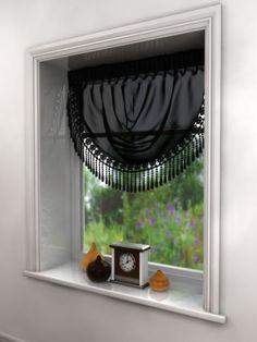 Curtain Swag, Macrame Lace Trim, Voile Curtain Pelmet, Red White Black Latte | eBay