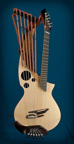 Matsuda Custom Harp guitar by matsudaguitars. Unique Guitars, Custom Guitars, Vintage Guitars, Best Guitar Players, Beautiful Guitars, Guitar Strings, Guitar Design, Mandolin, Cool Guitar