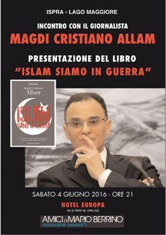 """Ispra, incontro con Magdi Allam: """"Islam: siamo in guerra"""""""