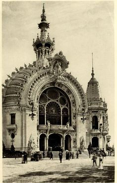 The Palace of Sciences, Arts and Letters at the Exposition Universelle in 1900, Paris via Petit Cabinet de Curiosites