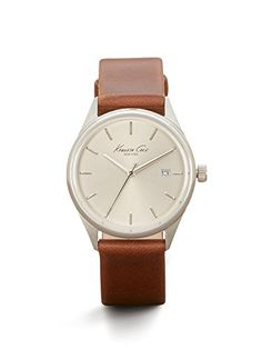 Kenneth Cole New York Womens Classic Quartz Stainless Steel and Brown Leather Dress Watch Model 10025931 ** Want additional info? Click on the image.