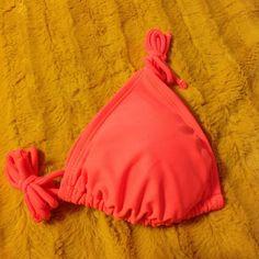 Neon orange triangle bikini top This color looks amazing against tan skin!  NWOT Op Swim