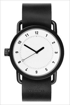 ティッドウォッチ腕時計TIDWatches時計TIDWatches腕時計ティッドウォッチ時計TIDメンズ/レディース/ユニセックス/男女兼用/ホワイトTID01-WH-BK[革ベルト/おしゃれ/防水/替え/北欧/アナログ/ブラック]