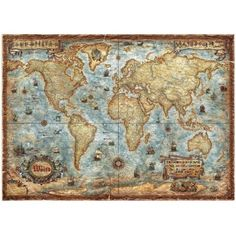 World map design chair mat chair mats maps travel crafts ideas world map antique style laminated gumiabroncs Gallery