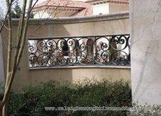 Charlotte NC custom wrought iron railings Raleigh Wrought Iron Co. Interior Stair Railing, Patio Stairs, Iron Railings, Iron Work, Charlotte Nc, Wrought Iron, Gate, New Homes, Ideas