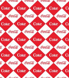 Coca Cola Diamond Cotton Fabric