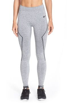 Nike Pro Hyperwarm 'Limitless' Running Tights available at #Nordstrom Size: Small Color: light grey