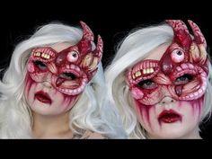 DIY Gory Masquerade Mask Halloween Makeup Tutorial - Lets Learn Makeup Halloween Masquerade, Up Halloween, Halloween Face Makeup, Epic Cosplay, Cosplay Diy, Cool Costumes, Amazing Costumes, Jordan Hanz, Makeup Tutorials Youtube