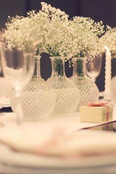 Baby's breath, Dinner, Gipsofila, Jantar de Noivado, Noivado, Pink and Green, Romantic, romantico, Verde e Rosa, decor, decoration, decoração.