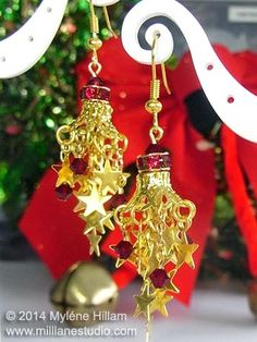 Mill Lane Studio: Twelve Days of Christmas Earrings Extravaganza 2014 - Gift of the Orient