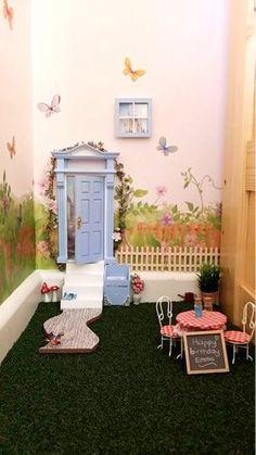 Inside fairy door garden Opening Fairy Doors Australian made and owned www.openingfairydoors.com.au
