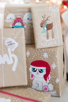 handpainted gift wrap craftberrybush-3