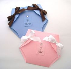 25 - Fancy Pants Diaper Baby Shower Invitaions - Pink, White, Blue, Brown, Yellow - Custom Colors