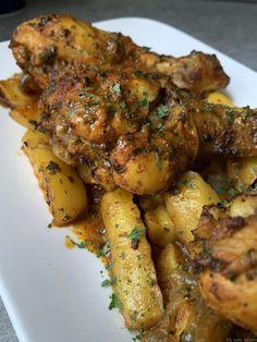 Pilons et pommes de terre marinés cuits au four - My tasty cuisine
