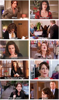 """Shark farts""- totally gonna start saying that. Some of the Best Liz Lemon Lines from ""30 Rock"" Ever!"