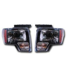 OEM Ford F-150 Black Headlight Pair – SVT Raptor, Harley Davision AL3Z13008AJ