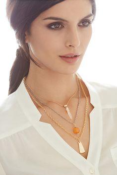 Chico's Nissa Three-Pendant Necklace