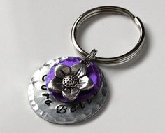 """Hand stamped 1"""" pet ID tag made from durable 14ga aluminum from KeiiekPetTags on Etsy. #PetTag #PetProducts #Etsy"""