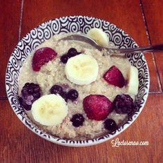 Mingau de quinoa sem glúten e sem lactose