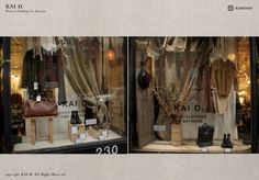 Kai D Utility — Kai D. Window Display Retrospective Visual Display, Kai, Oversized Mirror, Windows, Furniture, Home Decor, Decoration Home, Room Decor, Home Furnishings
