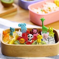 2 Packs Special Design Bento Kawaii Animal Food Fruit Pick Forks Lunch Box Accessory