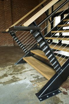 Detail of stair posts Steel Railing, Metal Stairs, Railings, Stair Posts, Stair Detail, Landscape Elements, Solid Doors, Floating Stairs, 3d Laser