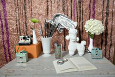 Silly little guest/polaroid section - such a creative idea for a guestbook!