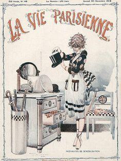 René Vincent (1879 – 1936). La Vie Parisienne, 30 Novembre 1918. [Pinned 20-vii-2015]