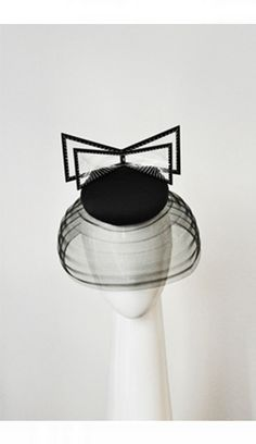 Suzy O'Rourke Millinery: Beret Bow and Veiling