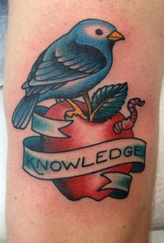 Apple from the tree of knowledge. Chris Smith, Deluxe Tattoo, Chicago