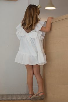 Vestido Lazo a la Espalda – Cuadro Blanco   No sin Valentina