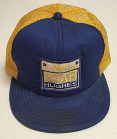 Vtg Star Hughes Trucker Hat Quality Drillstem Testing Made In The USA Oil Gas #Trucker