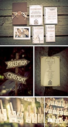this rustic theme is gorgeous. I'm not into the outdoor weddings, but its really cute.