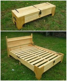 This small box unfolds into an amazing custom bed!