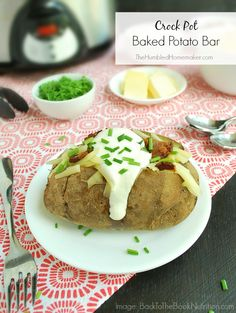 A baked potato bar is a simple, healthy, and satisfying dinner that can be ready within minutes of walking in the door.