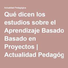 Artículo que ayuda  clarificar qué es y qué no es Aprendizaje Basado en Proyectos, cuáles son los roles del alumno y el profesor en él, dificultades podemos encontrar y cuáles serían los resultados esperables.