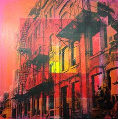 Niagara street - Acrylics and photocopy transfer - Toronto 2014