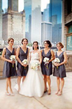 grey bridesmaids dresses.