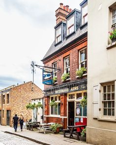 A pretty pub on a side street in London's Richmond.     #pub #london #richmond