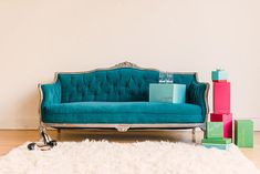 Turquoise Vintage Couch...
