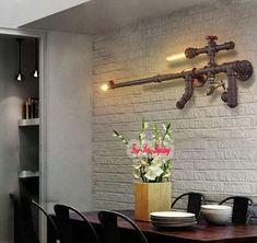 Vintage Loft Industrial Edison Pipa De Agua Lámpara de Pared de 2 Luces Bar Cafetería de canela | Hogar y jardín, Lámparas, luces y ventiladores de techo, Elementos fijos de pared | eBay!