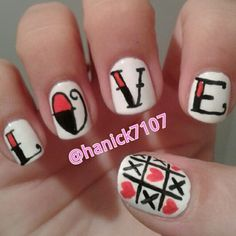 L.O.V.E. Love!! :)   #valentinesdaynails  @hanick7107