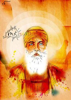Guru Nanak Dev Ji by FulkariBazaar on Etsy https://www.etsy.com/listing/202232518/guru-nanak-dev-ji