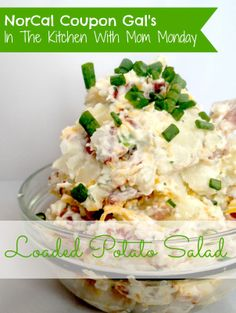 NorCal Coupon Gal: In The Kitchen With Mom Monday - Loaded Potato Salad Loaded Potato Salad, Cooking Recipes, Healthy Recipes, Side Dish Recipes, Side Dishes, Dinner Recipes, Potato Dishes, The Ranch, Soup And Salad