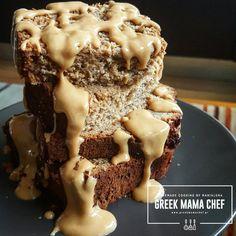 Κέικ με μπανάνα, φυστικοβούτυρο, μέλι και βρώμη Food And Drink, Pie, Sweet, Desserts, Recipes, Cafe Bar, Gastronomia, Torte, Candy