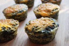 Crustless Mini Spinach Quiche